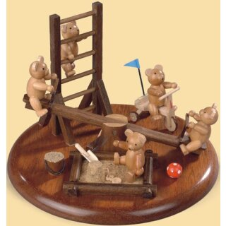 Müller music box motif plate playground for bears