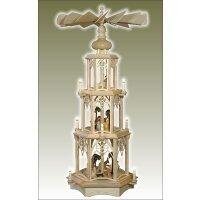 Seidel Weihnachtspyramide mit gedrechselten Krippe Figuren
