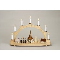 Zeidler candle arch church with carolers of Seiffen