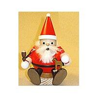 Kugelrauchmann Weihnachtsmann sitzend