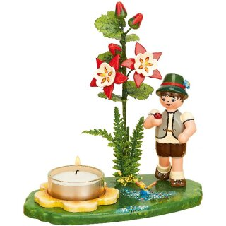 Hubrig candle holder boy with Akelei