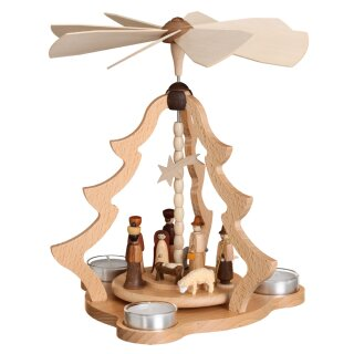 Zeidler table pyramid big with nativity