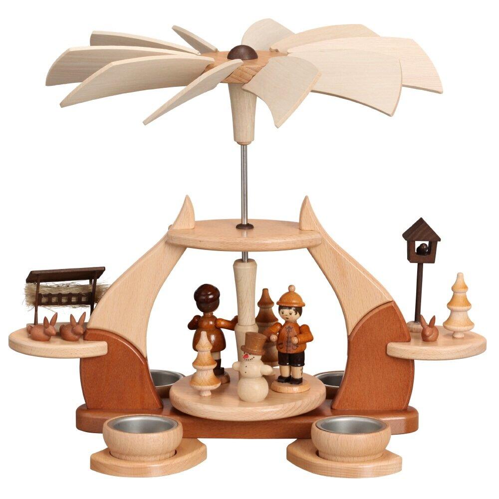 zeidler weihnachtspyramide design loderndes feuer holzkunst aus dem erzgebirge 100 original. Black Bedroom Furniture Sets. Home Design Ideas