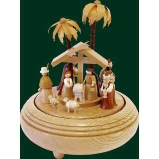 Richard Glässer music box christi nativity nature