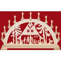 Taulin candle arch forest house - with front lighting