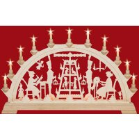 Taulin candle arch pyramid carver - with front lighting