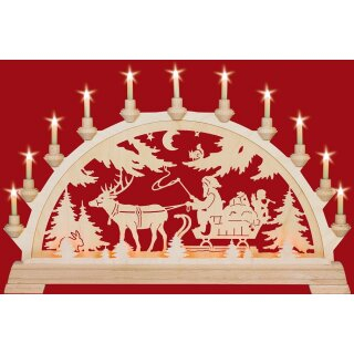 Taulin candle arch Nicholas with sleigh
