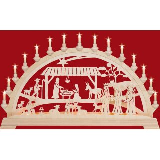 Taulin candle arch motif Christi nativity with kings