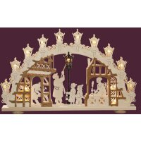 Saico candle arch lamp man 3D