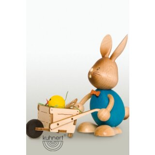 Kuhnert easter bunny Stupsi with wheelbarrow