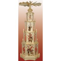 Seidel pyramid motif forest with turned figures - electric