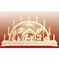 Seidel candle arch Christi nativity with star - with...