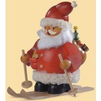 Müller Smoker Santa Claus on skis small