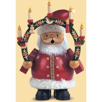 Müller Smoker Santa Claus with candle arch small