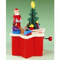 Graupner Spieldose Weihnachtsmann mit Kurbel