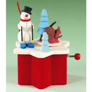 Graupner music box snowman with winder