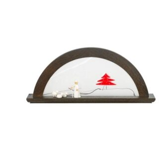 KWO candle arch oak - moor oak with glass red fir