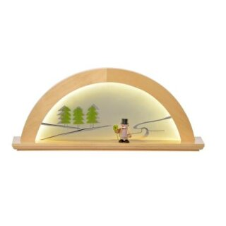 KWO candle arch alder nature with glass green fir