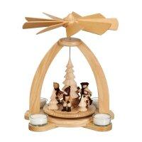 Unger Tischpyramide Wintersport für Teelichter