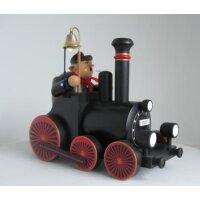 KWO Räuchermann Lokführer mit Lokomotive