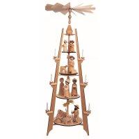 Ulmik Pyramide Geburt - Figuren gebeizt, 4 stöckig