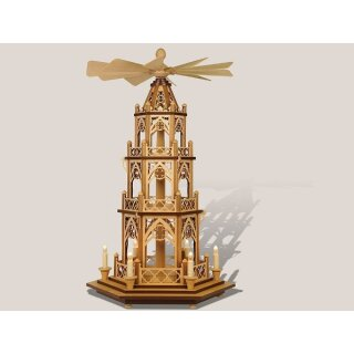 Rauta Gothic pyramid electric illuminated 3 floors