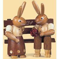 Müller rabbit couple on the bench small