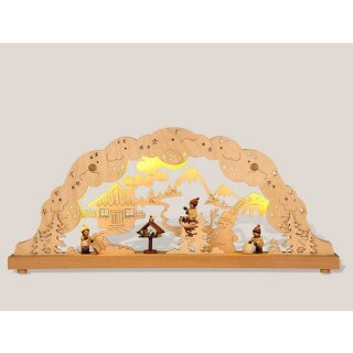 Rauta double candle arch winter children