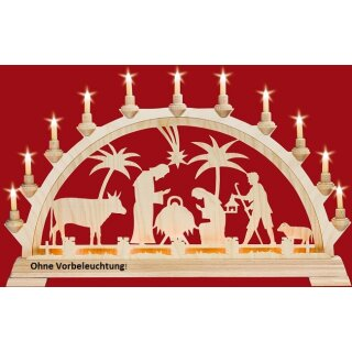 Taulin candle arch Christi nativity old - without front...