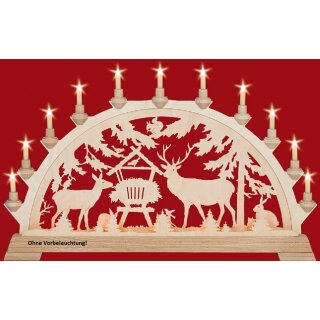 Taulin candle arch deer feeding