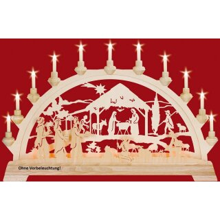 Taulin candle arch Christi nativity with kings