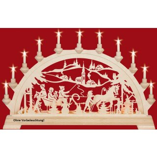 Taulin candle arch sleigh ride