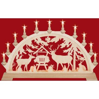 Taulin candle arch deer feeding - with front lighting