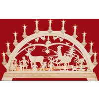 Taulin candle arch Christmas country with children - with...