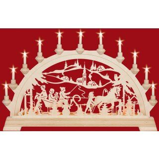 Taulin candle arch sleigh drive - with front lighting