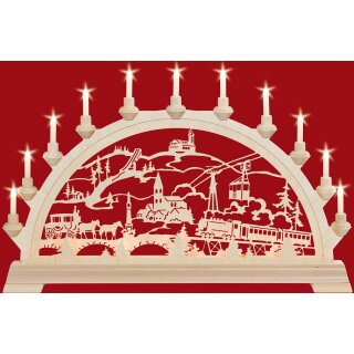 Taulin candle arch original Oberwiesenthaler - with front...