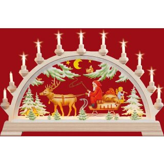 Taulin candle arch Nicholas  - with front lighting