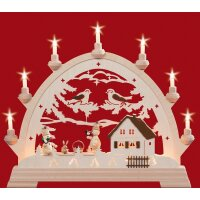 Taulin round arch with Wagner snowmen - with lighting