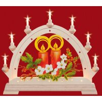 Taulin round arch candle red