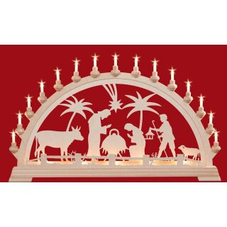 Taulin candle arch Christi nativity old - with front...