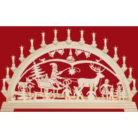 Taulin candle arch Christmas country - with front lighting