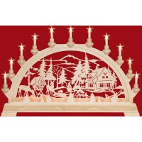 Taulin candle arch ranger house  - with front lighting