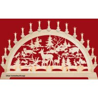 Taulin candle arch forest idyll - with front lighting