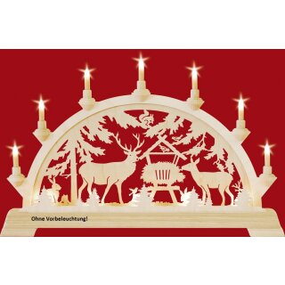 Taulin candle arch deer feeding - without front lighting