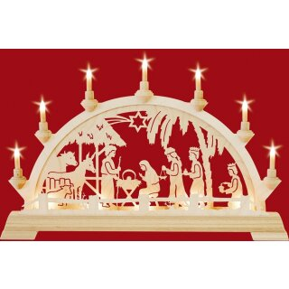 Taulin candle arch Christi nativity in the house - with...