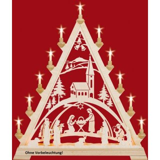 Taulin triangle arch Christi nativity with church -...
