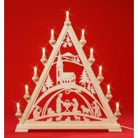 Taulin triangle arch Christi nativity with church -...