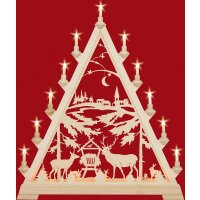 Taulin triangle arch deer feeding with town - with front...
