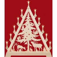 Taulin triangle arch pointed tree - with front lighting
