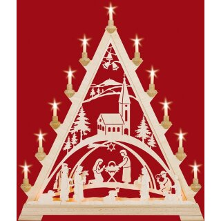 Taulin triangle arch Christi nativity with church - with...